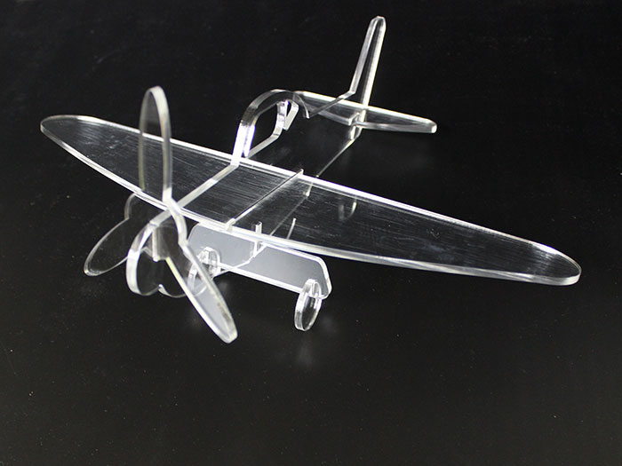 Acrylic air plane laser cutter