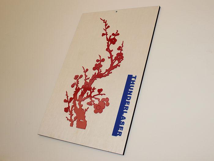 Acrylic Plum blossom laser cutter