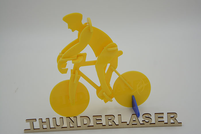 Acrylic ride a bike laser cutter