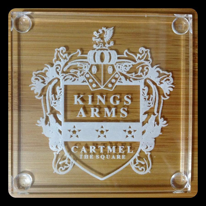 Acrylic kingsarms laser cutter