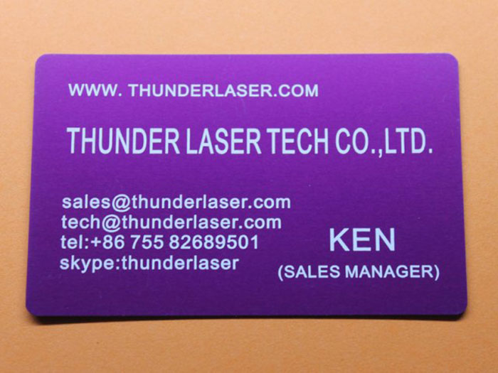 anodized-aluminum laser cutter sample photo