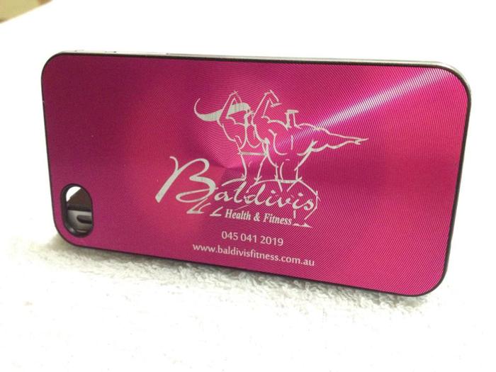 cellphone case Anodized-Aluminum laser engraver