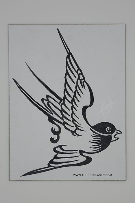 bird Double-Color-Abs laser engraver