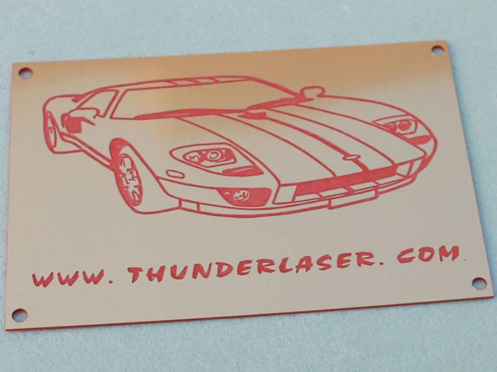 car Double-Color-Abs laser engraver