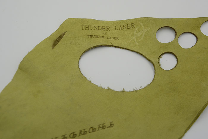 green Fabric-Leather laser cutter