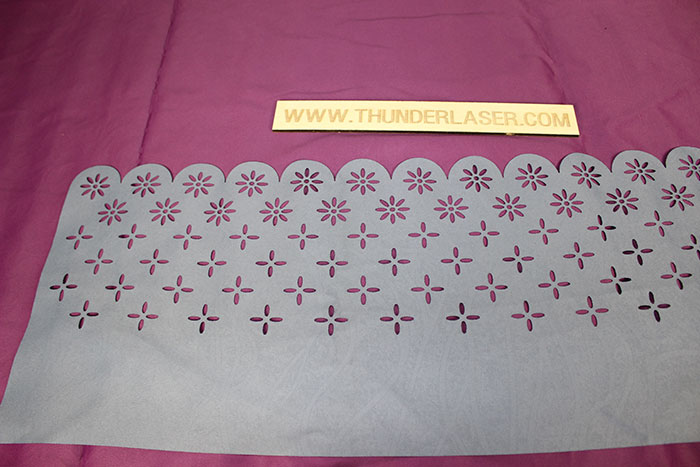 white Fabric-Leather laser cutter
