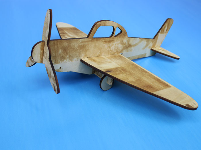 wood air plane laser cutter