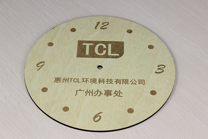 wood clock laser cutter