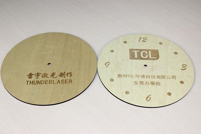 wood twoclock laser cutter