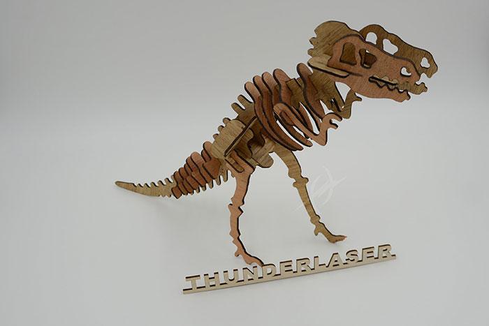 wood dinosaur laser cutter