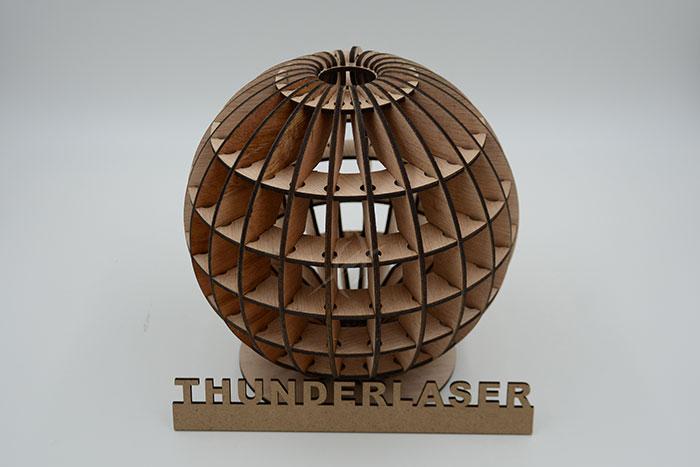 wood globe laser cutter