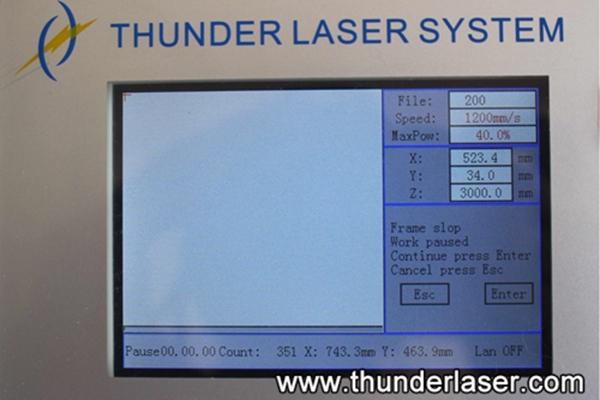 Laser cutter has no enough buffer distance
