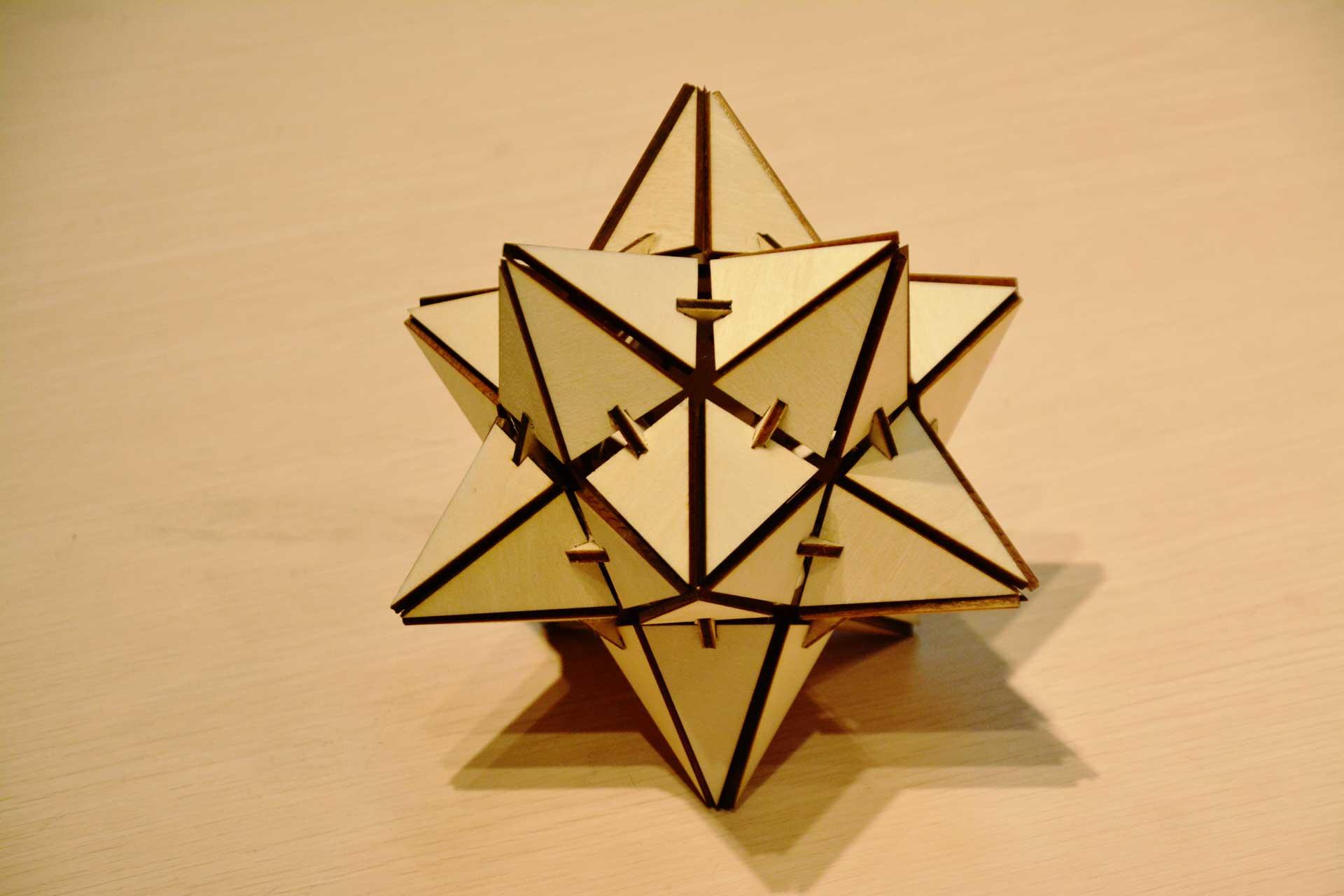 laser cutting wood star