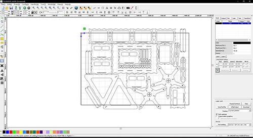 laser cutter setting